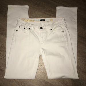 J. Crew white Matchstick straight leg size 28